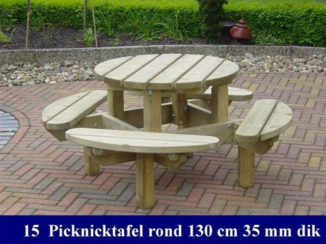 Kinder Picknicktafel Kunststof.Houten Ronde Kinder Picknicktafel 130cm 640 480 65 1291715406