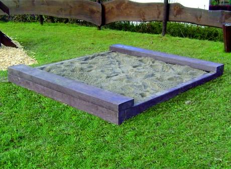 Bielzen-Balken combinatie zitgedeelte voor zandbakken