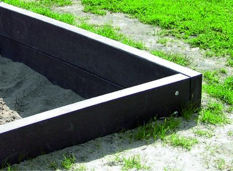 Zandbak balken bruin 230 x 8 cm