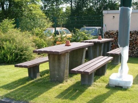 Balken voor picknicktafels en zittingen