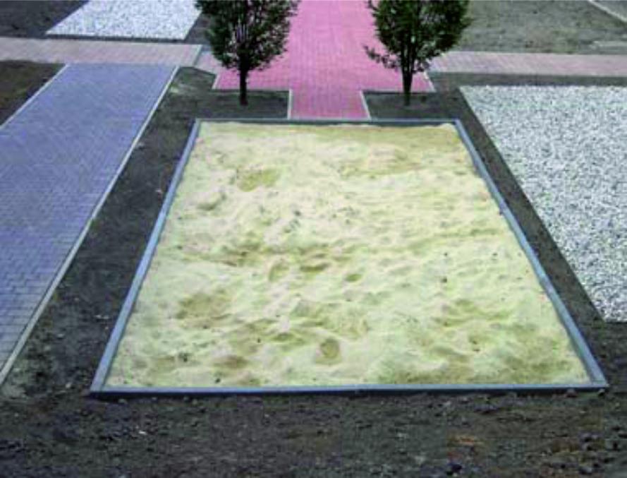 Balken voor zandbak afscheidingen