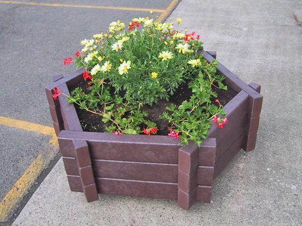 Kunststof bloembakken