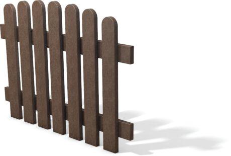 Kunststof hekelement bruin getoogd 120 cm breed x 85 cm hoog geheel kunststof 2020