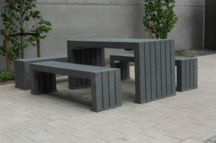 Kunststof Tuinset Modern Zwart