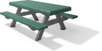 Kinder picknicjtafel F bicolor grijs groen 2020