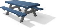 Kinder picknicktafel F bicolor grijs blauw 2020