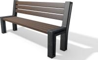 Kunststof en metaal combinatie banken tafels en sets speciale modellen 2020